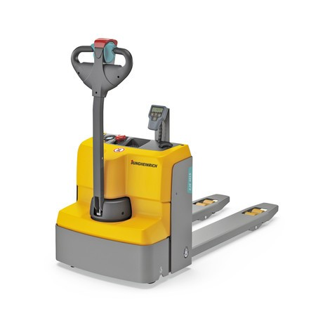 Jungheinrich EJE M15 electric low-lift pallet truck with weighing scales, lithium-ion