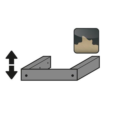Justiervorrichtung inkl. Sockelblende für Sicherheitsschrank asecos® Typ 30