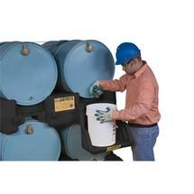Justrite Barrel Cover voor Barrel Management Systeem