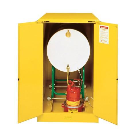 Justrite® Barrel kast Horizontale Drum Sure-Grip® FM