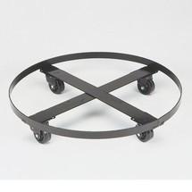 Justrite Chariot en acier pour dépôt de tonneaux