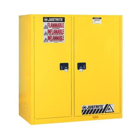 Justrite® Verticale Drum Sure-Grip® FM 2-vaks kast