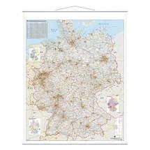 Kaart van Duitsland FRANKEN, wegenkaart