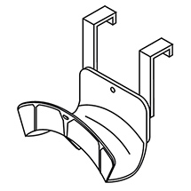 Kabel- und Schlauchaufhängung für Materialcontainer