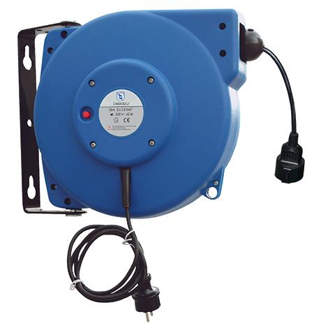 Kabelaufroller mit und für Schutzkontakt-Stecker. Kabellänge bis 25m