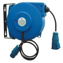 Kabelhaspel met en voor CEE-stekkers
