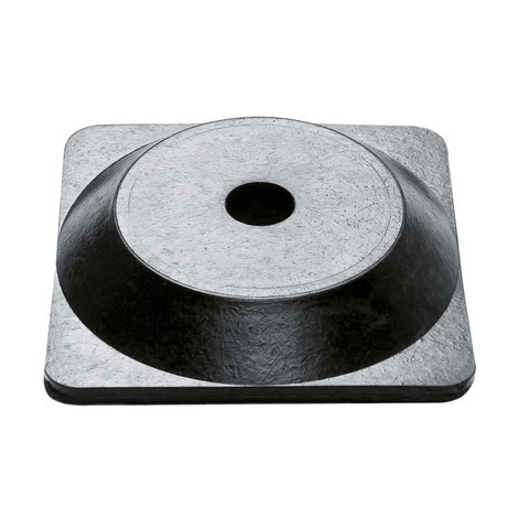 Kædestander enkeltvis, firkantet fod i hård gummi
