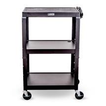 Kancelářský a pilníkový vozík na složky, 3 stupně, konstrukční výška kově nastavitelný, se spodní skříňka