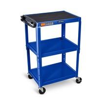 Kancelářský a spisový vozík na složky, 3 úrovně, konstrukční výška kově nastavitelný