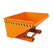 Kantelbak met rolmechanisme, gelakt, zuiver oranje