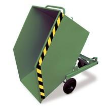 Kantelbare bakwagen, met wielstel en inrijkokers, volume 0,6 m³