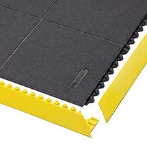 Kantenleiste für Bodenplatten-Stecksystem Montage-Arbeitsplätze, Kautschuk, wahlweise gelb oder schwarz