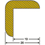 Kantenschutz, Winkel, selbstklebend, 5 m Rolle