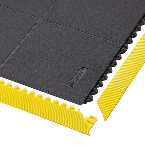 Kantlist för golvplattsystem, monteringsarbetsplatser