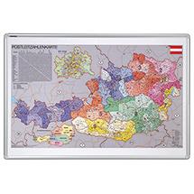 Kartentafel Österreich mit Postleitzahlen