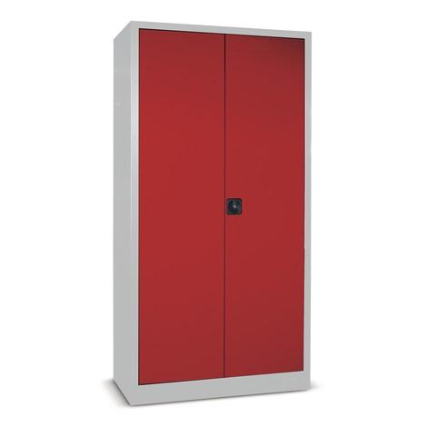 Kast met opensl. deuren PAVOY, 4 vzkt.legbd, 1950x1000x400mm