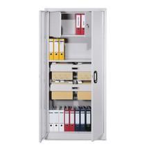 Kast m.opensl.deuren en locker+2 hangmappenladen,195x93x40cm