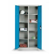 Kast m.opensl.deuren,2x4vzkt.legb,195x120x50cm,kleur n.keuze