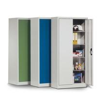 Kast m.opensl.deuren,4verzkt.legb,195x120x60cm,kleur n.keuze