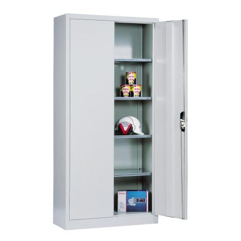 Kast m.opensl.deuren,4verz.legb., 195x120x50cm,kleur n.keuze