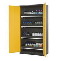 Kast voor chemische en giftige stoffen asecos® met uittrekbare legborden, hxbxd 1.950 x 1.055 x 520 mm