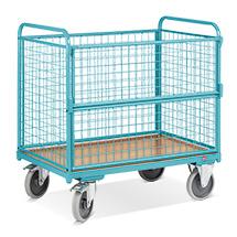Kastenwagen Ameise® mit Holzboden und 4 geschweißten Drahtgitterwänden