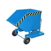 Kastenwagen kippbar, mit Fahrwerk + Gabeltaschen, Volumen 0,25 m³