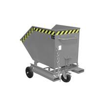 Kastenwagen kippbar, mit Fahrwerk + Gabeltaschen, Volumen 0,4 m³