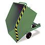 Kastenwagen kippbar mit Gabeltaschen, Tragkraft 300 kg, Volumen 0,25 m³, lackier