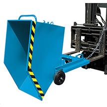 Kastenwagen kippbar mit Gabeltaschen, Tragkraft 300 kg, Volumen 1 m³, lackiert