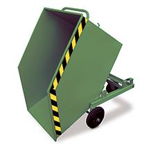Kastenwagen kippbar mit Gabeltaschen. Tragkraft 300kg, lackiert/verzinkt
