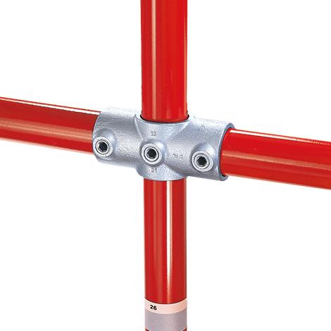 Kee Klamp® Kreuzverbinder 1 Durchgang, 2 Abgänge