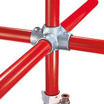 Kee Klamp® Kreuzverbinder 1 Durchgang, 4 Abgänge