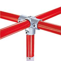 Kee Klamp® Kreuzverbinder 1 Mitteldurchgang, 3 Abgänge