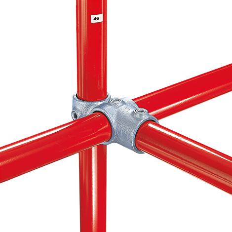 Kee Klamp® Kreuzverbinder 2 Durchgänge, 1 Abgang