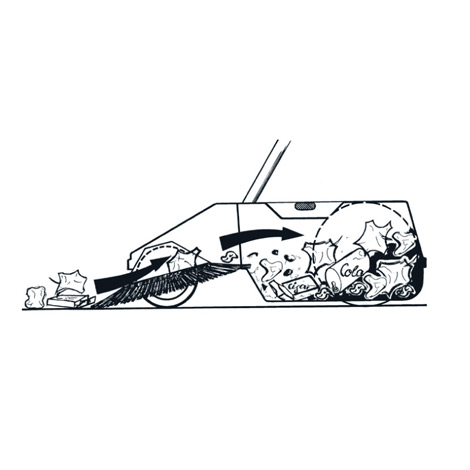 Kehrmaschine BASIC. Manuell, Kehrbreite 550 mm