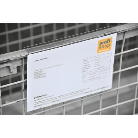 Kennzeichnungstasche für Aufsatzrahmen