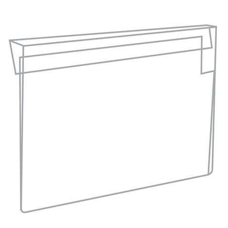 Kennzeichnungstaschen mit Falz zum Überhängen.