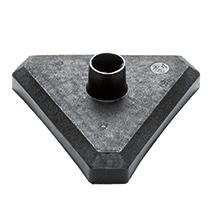Ketten-Warnständer aus Kunststoff im 6-teiligen Set