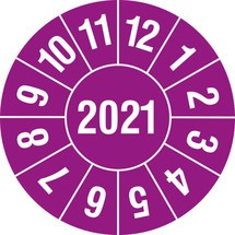 Keuringsstickers voor 2021