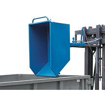 Kippbehälter fetra® mit/ohne Rollen. Niedrige Bauart. Bis 750 Liter. Bis 1000 kg