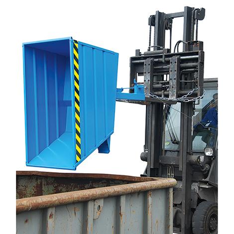 Kippbehälter kompakt, Tragkraft 1000 kg, Volumen 0,8 m², lackiert