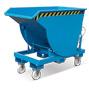 Kippbehälter mit Abrollmechanik ohne Deckel, tiefe Bauform. Volumen bis 2m³
