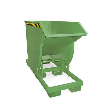 Kippbehälter mit Abrollmechanik, Volumen 0,75m³, lackiert