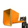 Kippbehälter mit Abrollmechanik, Volumen 1,5m³, lackiert
