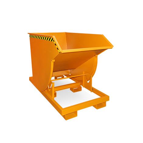 Kippbehälter mit Abrollmechanik, Volumen 1m³, lackiert