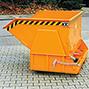 Kippbehälter ohne Deckel, Tragkraft 2000 kg, Volumen 1,5 m³, lackiert