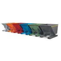 Kippbehälter. Tragkraft 1000kg, Volumen bis 1m³, lackiert/verzinkt