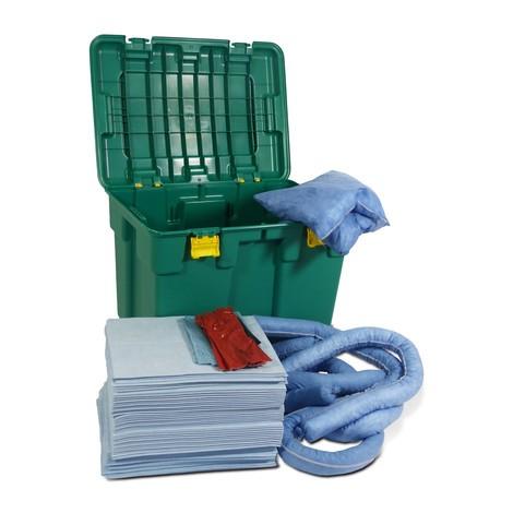 Kit de benne d'urgence à roulettes, contenance 150 l