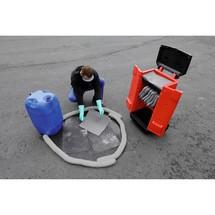 Kit de emergência no carrinho de transporte